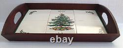 Spode Christmas Tree Wood Tray Large Wooden Tile Serving Tray