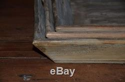 Square Reclaimed Wood Tray, Tabletop Organizer, Serving Tray