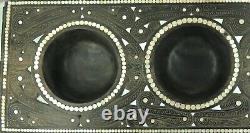 Stunning / Huge / Quality / Trobriand Islands 3 Compartment Ebony Serving Tray