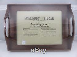 Sudberry House Rectangular Wood Serving Tray Needlework Display NEW