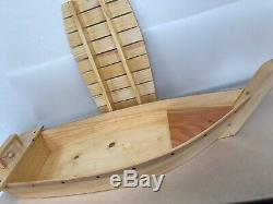 Sushi Boat Serving Tray 35 1/2 x11 1/4 Oiled Wood Sushi Party Display Size