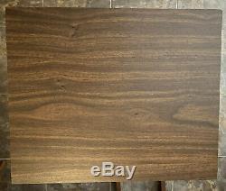 TV TRAYS 4 Scheibe Set Folding TV Stand Vtg Mid Century Modern Wood Excellent