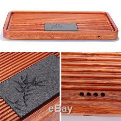 Tea tray rosewood tea table solid wood tray stone handmade carved tea trays 2017