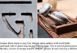 Teatray Whole piece of sharply stone tea tray Stone tea sea wenge wood tea table