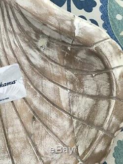 Tommy Bahama Distressed Wood Sea Shell Shaped Serving Piece NWT