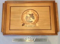 USS San Francisco (SSN-711) US Navy Inlaid Wood Serving Tray