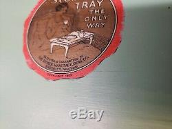 Ultra Rare Antique Original 1927 Stober Serving Tray Bed Breakfast Folding Tray