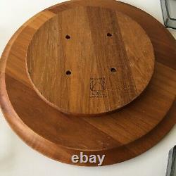 VTG MCM Digsmed Danmark Teak Wood Wooden Lazy Susan Serving Tray Round Turntable