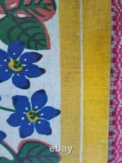Vintage 1970's Josef Frank Svenskt Tenn Floral Coated Wood Tray MCM Rare Design