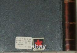 Vintage 20 Kusachu Japanese Cherry Bark Wood Tray withFlower & Leaf Inlays