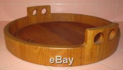 Vintage Birgit Krogh 16 Teak Wood Serving Tray Denmark 1960s Mid Century Modern