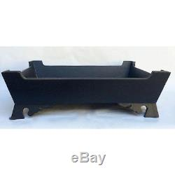 Vintage Black Solid Wood Tray Rectangular 11.75x14.75x5 Asian Transitional