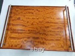 Vintage Curly Maple Wood Grain Flame Design Serving Tray Australian Cedar Bonded