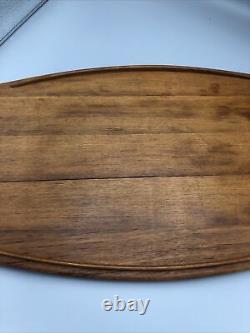 Vintage Dansk Jens Quistgaard IHQ Teak Wood Surfboard Serving Tray