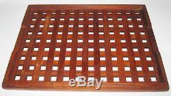 Vintage Dansk Teak Wood Serving Tray Lattice Malaysia Quistgaard