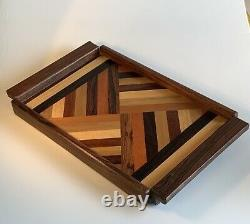 Vintage Don Shoemaker For Sensel Inlays Wood Serving Tray Mid Century Modern