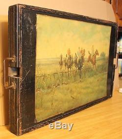 Vintage Ferguson MFG Co. Butler Wood Serving Tray/Table Wyoming Estate Find