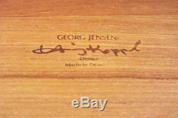Vintage Georg Jensen Henning Koppel Teak Wood Serving Tray Modern Design Denmark