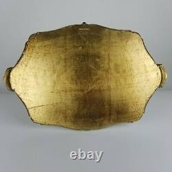 Vintage Gold Florentine Serving Tray Italy Italian XL 21in Neiman Marcus