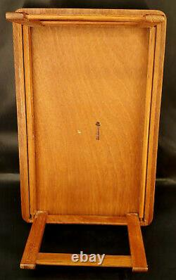 Vintage Goodwood Genuine Teak Wood Folding Serving Bed Tray Mid-Century s-1K