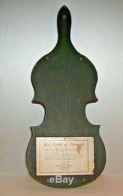 Vintage Holt Howard Red Fiddle Violin of Francois Wood Serving Tray 1952