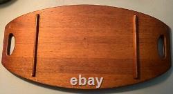 Vintage Jens Quistgaard for DANSK DESIGN IHO Teak Surfboard Serving Tray 23.5