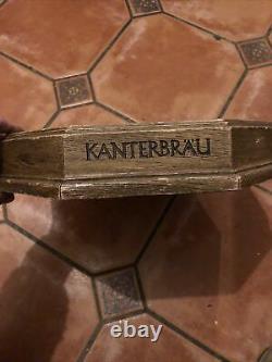 Vintage Kanterbrau Beer Advertising Deep Wooden Serving Tray