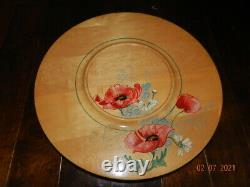 Vintage Kitchen Tray, Wood Lazy Susan Hand Painted, G. H. Specialty, Farmhouse