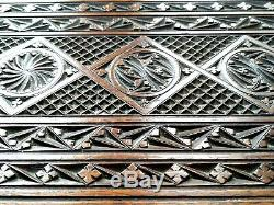 Vintage Large Wooden Decorative Carved Wooden Serving Tray. 55 cm. X 40 cm