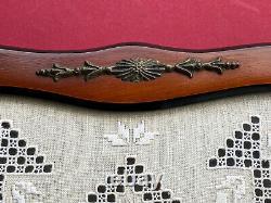Vintage Lefkara Lace Handmade Wood & Glass Tray Cyprus Irish Linen French Thread
