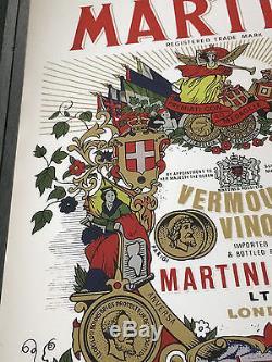 Vintage Martini rossi tray platter trade mark torino italy london vermouth vino