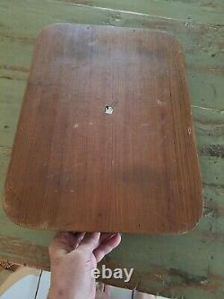 Vintage Mid Century Dolphin Teak Wood Serving Tray With Handles, Brass sides