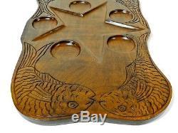 Vintage Mid Century Modern Wood Serving Tray