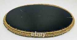 Vintage Rattan Wicker Woven Oval- Japanese Lacquer Wooden Bar/Tea Serving Tray