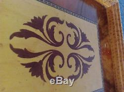 Vintage Romanian wood tray 1950s lacquer home decor serving trays, woodenware