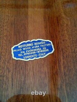 Vintage Sorrento Italy inlay wood serving tray