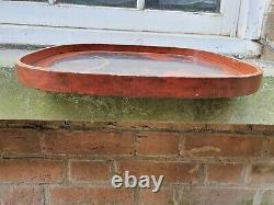 Vintage Squared Lacquered Japanese Chinese Oriental Serving Tea Tray