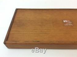 Vintage Used Kalmar Designs Teak Wood Thailand Serving Tray Rectangular Dovetail