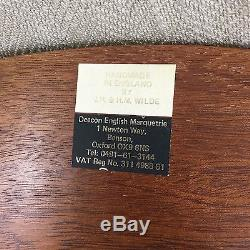Vintage Wooden Tray Serving Butlers Inlaid Wood Marquetry Veneer Oval
