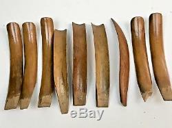 Vtg 3 Tier Tiki Hand Carved Wooden Monkey Pod Lazy Susan Candle Holder Nut Bowl