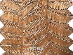 Vtg Hand Carved Gorges Du Trient Switzerland Black Forest Leaf Foliage Wood Tray