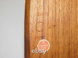 Vtg Laur Jensen Odense Mid Century Danish Modern Teak Wood Retro Serving Tray