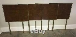 Vtg lot of 4 Faux wood TV Trays/Tables with Cart Mid Century Modern great cond