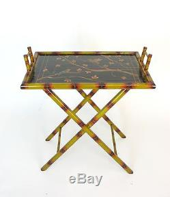 Wayborn Hand Painted Bamboo Serving Table Tray