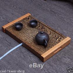Wenge tea tray solid wood Chicken-wing tea table yixing zisha tea set pot cups