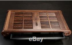 Wenge wood tea tray unique tea table wooden tea trays plastic layers China trays