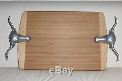 Wilton Bruce Fox Bull/Steer Handle Serving or Cheese Wood Tray 21