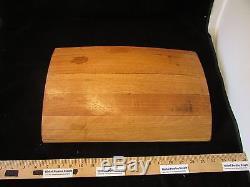 Wine Barrel Serving Tray Real. Sanded flat bottom