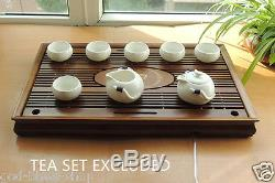 Wood tea tray solid wood tea table drainage tray water draining pipe L53.5cm