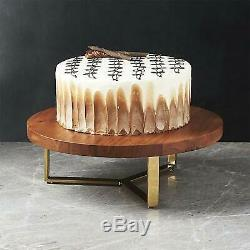 Wooden Dining Table Ware Cake Stand Set 5-Piece Brown Serving Tray Nepkin Holder